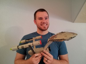 LEGO Star Trek Enterprise - proud builder