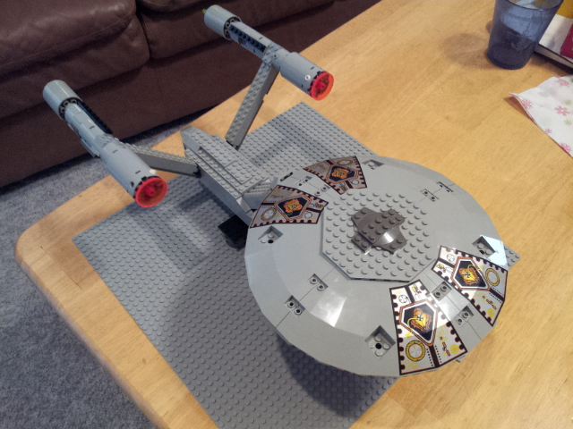 LEGO Star Trek Enterprise - top